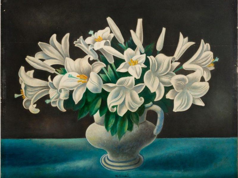 Wilhelm Schmid, Lilie, olio su tavola, 1924